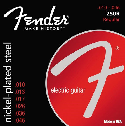 Fender 250R Electric Guitar Strings 10-46 Gauge 10 Bulk Pack
