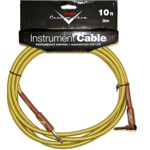Fender Custom Shop Performance Series Cable, 10', Angled, Tweed - L.A. Music - Canada's Favourite Music Store!