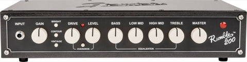 Fender Rumble 200 Head, 120V, Metallic Black 2370700000 - L.A. Music - Canada's Favourite Music Store!