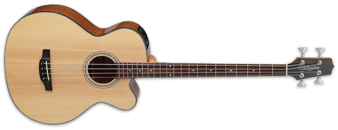 Takamine G Series Acoustic Electric Bass Guitar, Venetian Cutaway Natural GB30CE-NAT