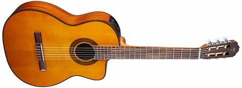 Takamine NAT Classical Acoustic-Electric Guitar, Natural Item ID: GC1CE-NAT