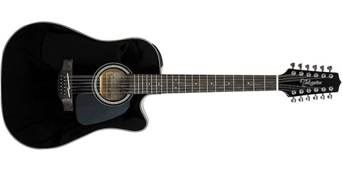 Takamine Dreadnought Acoustic Guitar, Black Item GD30CE-12BLK