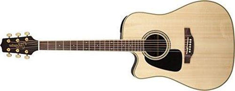 Takamine Acoustic-Electric Guitar Left-Handed Dreadnought Cutaway, Natural Item GD51CELH-NAT