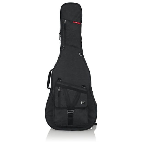 Gator Transit Series Gig Bag for Acoustic Guitar Charcoal Black GT-ACOUSTIC-BLK