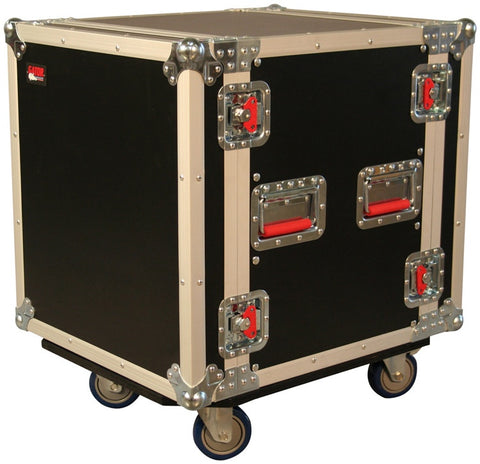 "Gator 12 space 19"" flight rack W/ 4 fixed casters 2 w/ lock - L.A. Music - Canada's Favourite Music Store!"