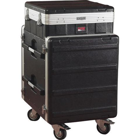 Gator 10U pop-up slant top 12U front & 12 rear rack - L.A. Music - Canada's Favourite Music Store!