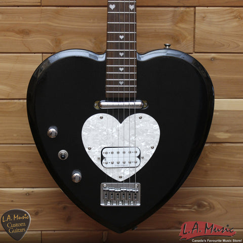 Daisy Rock Electric Guitar Heart - Left Handed - Black - Mint