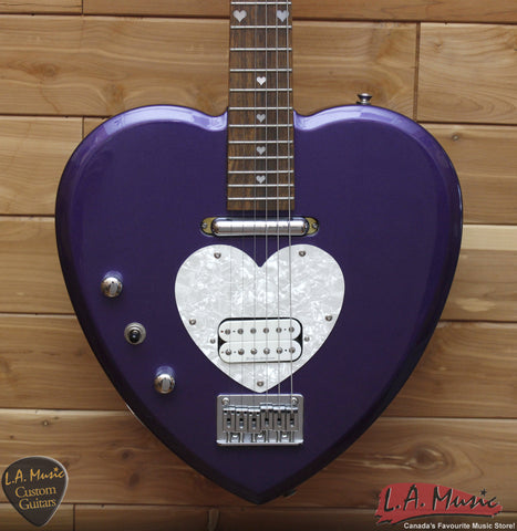 Daisy Rock Electric Guitar Heart - Left Handed - Purple - Mint