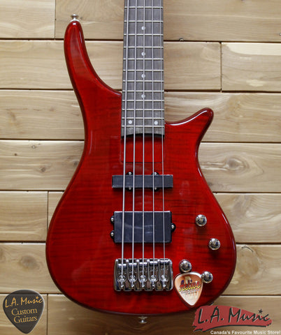 Avalanche By Dillion 5 String Bass Trans Red - SB-25-TR - Made in China - L.A. Music - Canada's Favourite Music Store!