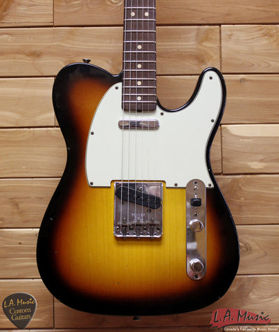 Fender Custom Shop 1963 Telecaster Journeyman Relic Rosewood Faded 3-Tone Sunburst - 9230300800 - Serial Number - R83496 - L.A. Music - Canada's Favourite Music Store!