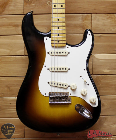 Fender Custom Shop 1957 Stratocaster Journeyman Relic Maple Neck 2-Tone Sunburst - 9230010803 - Serial Number - R83397 - L.A. Music - Canada's Favourite Music Store!