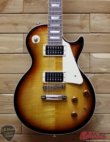 Gibson 2015 Les Paul Less Plus Fireburst Electric Guitar LPLP15FIRN - L.A. Music - Canada's Favourite Music Store!