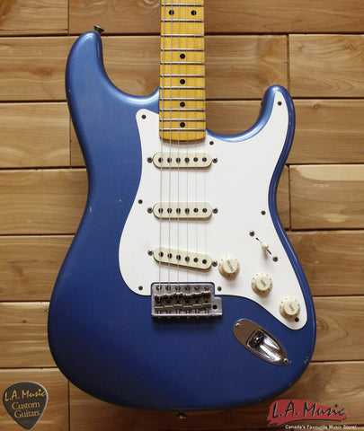 Fender Custom Shop 1957 Stratocaster Journeyman Relic Maple Neck Aged Lake Placid Blue - 9230010802 - Serial Number - R8298 - L.A. Music - Canada's Favourite Music Store!