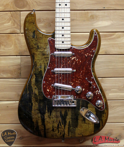 Fender Custom Shop Spalted Maple Top Artisan Stratocaster', Maple Fingerboard, Buckeye Finish 1510112151 - L.A. Music - Canada's Favourite Music Store!