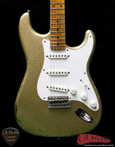 Fender Custom Shop 1954 Heavy Relic Stratocaster Gold Sparkle 9230054818 - Serial Number XN2516 - L.A. Music - Canada's Favourite Music Store!