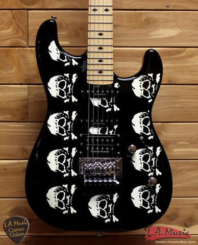 LTD LMW-600 Black Michael Wilton Skulls Electric Guitar - L.A. Music - Canada's Favourite Music Store!