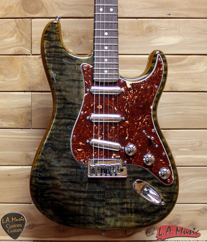 Fender Custom Shop Spalted Maple Top Artisan Stratocaster'', Rosewood Fingerboard, Buckeye Finish 1510110151 - L.A. Music - Canada's Favourite Music Store!