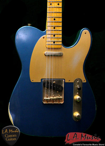 Fender Custom Shop 1952 Custom Shop Telecaster Aged Lake Placid Blue 1505202802 - L.A. Music - Canada's Favourite Music Store!