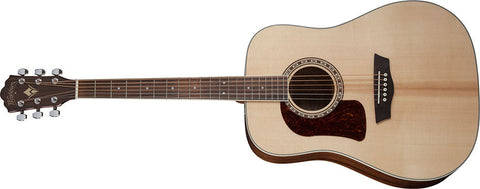 Washburn HD10SLH Heritage Natural Gloss Dreadnought left hand Solid Sitka Spruce Mahogany Okume