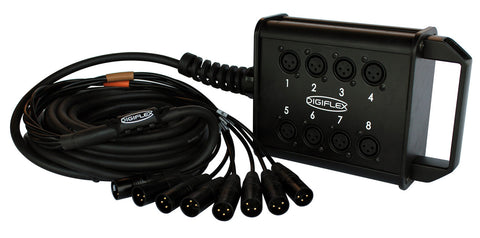 Digiflex 25 Foot 8/4 Channel Snake with XLR Returns