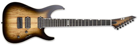 ESP E-II M-II-7 NT HIPSHOT IN DARK BROWN NATURAL BURST