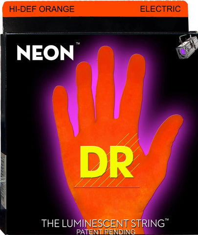 DR USA NEON ELECTRIC GUITAR STRINGS HI-DEF ORANGE 9-42 - L.A. Music - Canada's Favourite Music Store!