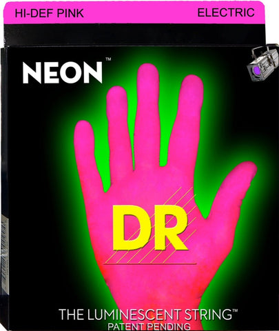 DR USA HI-DEF PINK NEON ELECTRIC GUITAR STRINGS 9-42