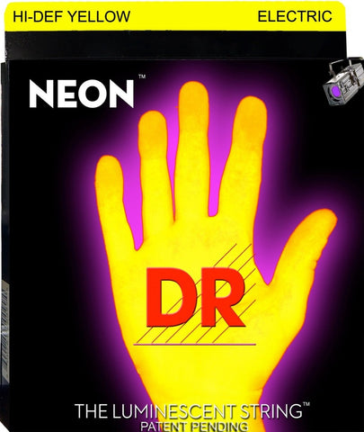 DR USA HI-DEF YELLOW NEON ELECTRIC GUITAR STRINGS 10-46 - L.A. Music - Canada's Favourite Music Store!