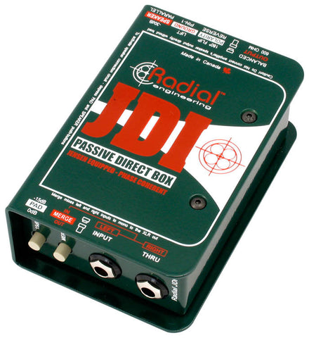 Radial JDI Passive single channel direct box with Jensen transformer