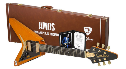 "Epiphone LIMITED EDITION Joe Bonamassa 1958 ""Amos"" Korina Flying-V Outfit"
