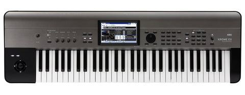 Korg 4Gb Kronos Based 61-Key Workstation,Color Touchview Usb KROME61EX 2019