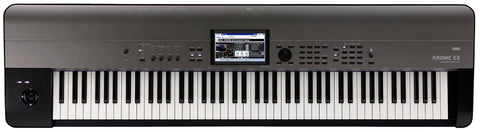 Korg 4GB Kronos Based 88-key Workstation Color Touchview USB KROME88EX Natural Weighted Hammer Action