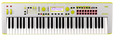 Korg LIMITED EDITION 61-Key Workstation Yellow Green KROSS261GG 2019