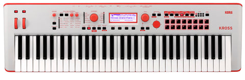 Korg Ltd 61-Key Workstation Red KROSS261GR 2019