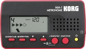 Korg Digital LCD MetronomeBlack/Red MA1-BKRD - L.A. Music - Canada's Favourite Music Store!