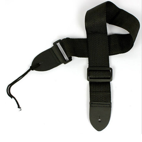L.A. Music Nylon Adjustable Full size Guitar Strap Black