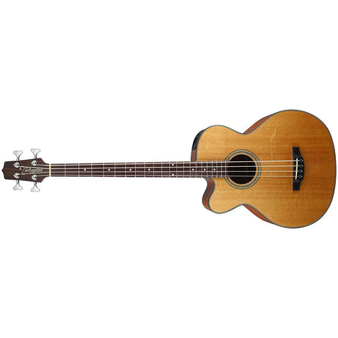 Takamine 4-String Acoustic-Electric Bass Guitar Left-Handed Acoustic Bass Natural GB30CELH-NAT