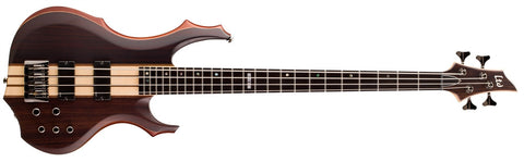 LTD F-4E NS F-Series Bass Guitar Natural Satin Finish Mahogany Body & Ebony Top - L.A. Music - Canada's Favourite Music Store!