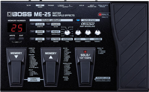 Boss ME 25 Guitar Multi-Effects - L.A. Music - Canada's Favourite Music Store!