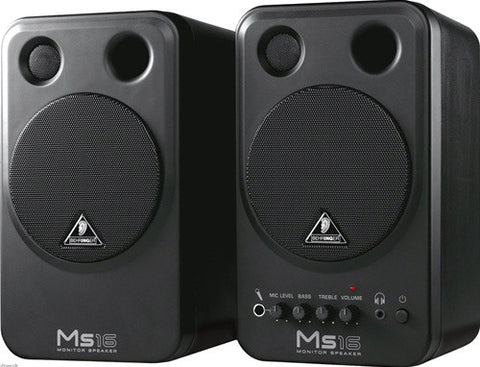 Behringer MS16 2 Way Active Personal Monitor System - L.A. Music - Canada's Favourite Music Store!