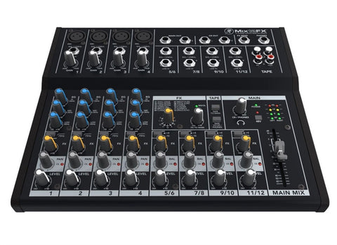 Mackie MIX12FX 12-Channel Ultra Compact Mixer With On Board DSP Effects - 4x XLR In