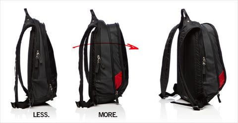 Mono CVL XPK BLK Expander Slim Light Backpack in Jet Black - L.A. Music - Canada's Favourite Music Store!