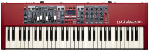Nord Electro 6D 61 with semi-weighted waterfall action and drawbars