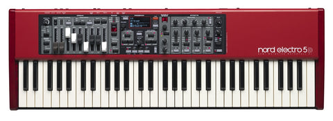 Nord Electro5 61 with semi-weighted waterfall action and drawbars ELECTRO5D61 - L.A. Music - Canada's Favourite Music Store!