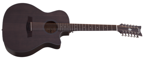 Schecter ORLEANS-STUDIO-12AC-SSTBLK Orleans Studio Acoustic Electric 12 String Satin See Through Black 3714-SHC