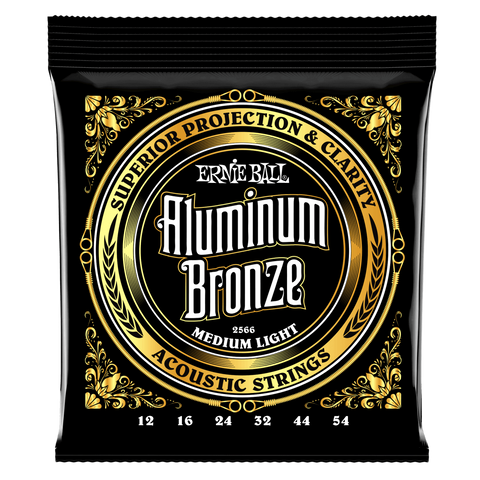 Ernie Ball Aluminum Bronze Medium Light Acoustic Guitar Strings EBP02566