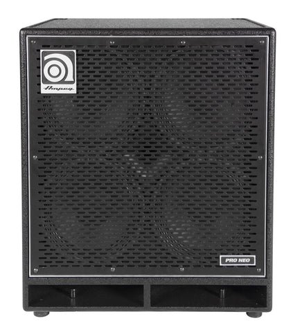 Ampeg PN410HLF Designed and Assembled in USA 410'' Speaker Cabinet Neodymium Loaded 850W RMS - L.A. Music - Canada's Favourite Music Store!