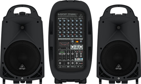 Behringer EUROPORT PPA2000BT Ultra-Compact 2000-Watt 8-Channel Portable PA System