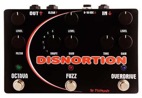 Pigtronix Disnortion Parallel Fuzz & Overdrive w/ Octave Up - L.A. Music - Canada's Favourite Music Store!