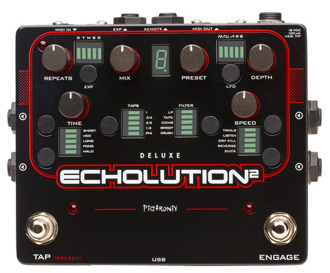 Pigtronix Echolution 2 Deluxe Programmable Multi-Tap Modulation Delay - L.A. Music - Canada's Favourite Music Store!